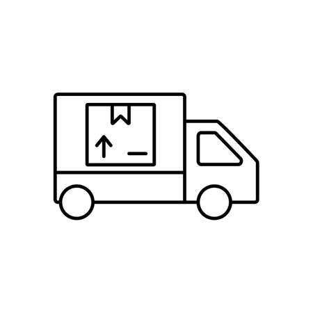 delivery icon element of logistics icon for mobile concept and web apps. Thin line delivery icon can be used for web and mobile. Premium icon on white background Ilustracja