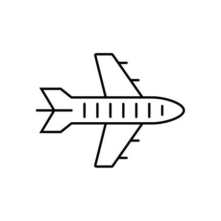 plane icon element of logistics icon for mobile concept and web apps. Thin line plane icon can be used for web and mobile. Premium icon on white background 矢量图像