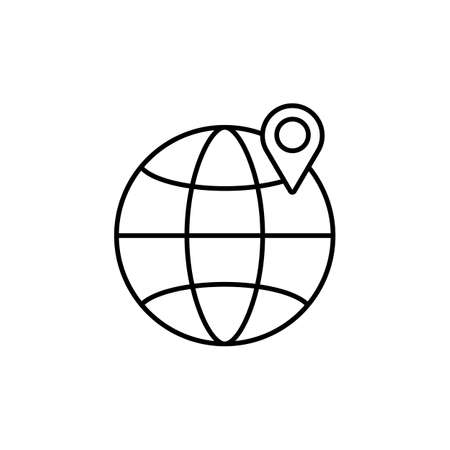tracking icon element of logistics icon for mobile concept and web apps. Thin line tracking icon can be used for web and mobile. Premium icon on white background  イラスト・ベクター素材