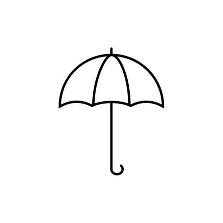 umbrella icon element of logistics icon for mobile concept and web apps. Thin line umbrella icon can be used for web and mobile. Premium icon on white background