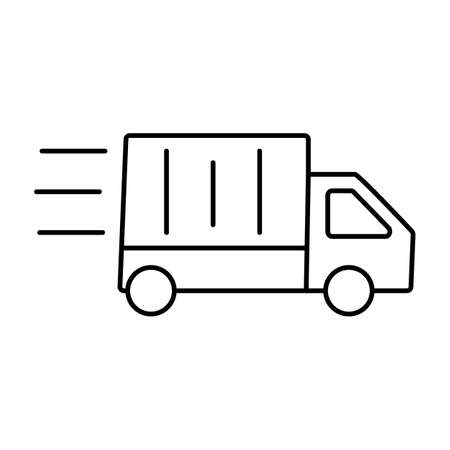 fast delivery icon element of logistics icon for mobile concept and web apps. Thin line fast delivery icon can be used for web and mobile. Premium icon on white background