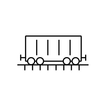 cargo wagon icon element of logistics icon for mobile concept and web apps. Thin line cargo wagon icon can be used for web and mobile. Premium icon on white background