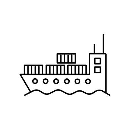 cargo ship icon element of logistics icon for mobile concept and web apps. Thin line cargo ship icon can be used for web and mobile. Premium icon on white background