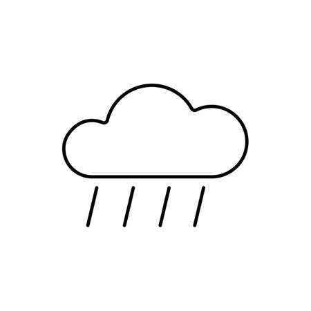 rain icon element of weather icon for mobile concept and web apps. Thin line rain icon can be used for web and mobile. Premium icon on white background. Ilustrace