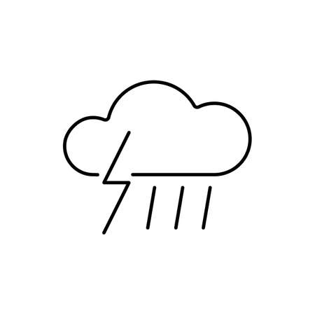 thunderstorm icon element of weather icon for mobile concept and web apps. Thin line thunderstorm icon can be used for web and mobile. Premium icon on white background.
