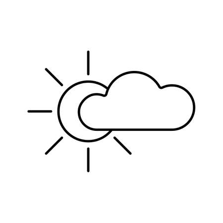 cloudy icon element of weather icon for mobile concept and web apps. Thin line cloudy icon can be used for web and mobile. Premium icon on white background.