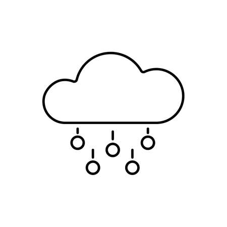 hail icon element of weather icon for mobile concept and web apps. Thin line hail icon can be used for web and mobile. Premium icon on white background.