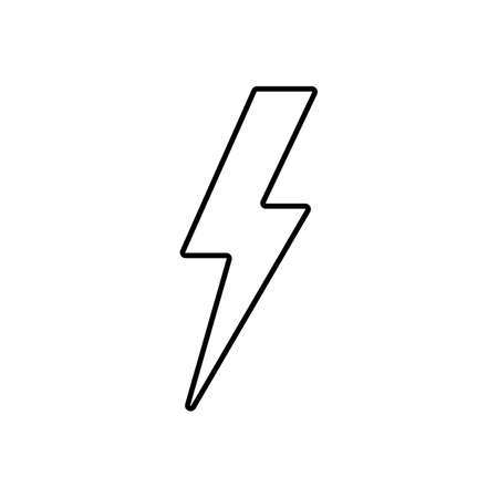 lightning icon element of weather icon for mobile concept and web apps. Thin line lightning icon can be used for web and mobile. Premium icon on white background.