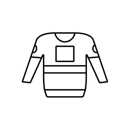 hockey jacket icon element of hockey icon for mobile concept and web apps. Thin line hockey jacket icon can be used for web and mobile. Premium icon on white background.