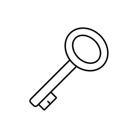 access key icon element of security icon for mobile concept and web apps. Thin line access key icon can be used for web and mobile. Premium icon on white background.