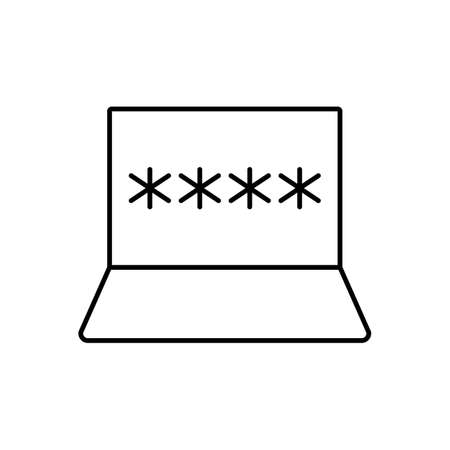 password icon element of security icon for mobile concept and web apps. Thin line password icon can be used for web and mobile. Premium icon on white background.