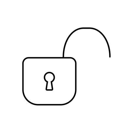 unlocked icon element of security icon for mobile concept and web apps. Thin line unlocked icon can be used for web and mobile. Premium icon on white background. 일러스트