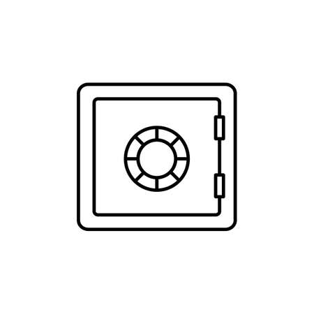 bank safe icon element of security icon for mobile concept and web apps. Thin line bank safe icon can be used for web and mobile. Premium icon on white background.
