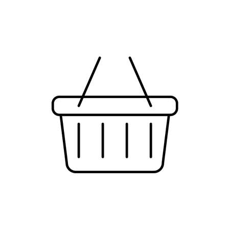 basket icon element of e-commerce icon for mobile concept and web apps. Thin line basket icon can be used for web and mobile. Premium icon on white background.