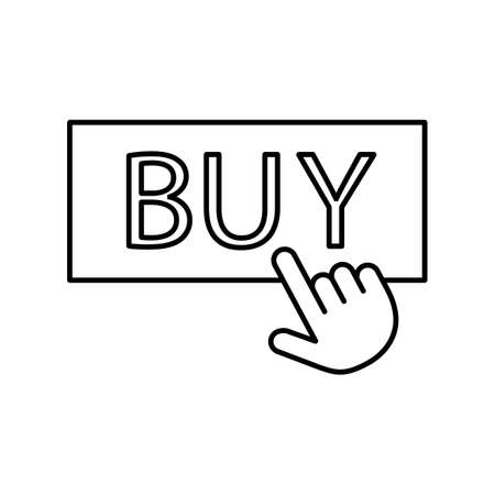 purchase icon element of e-commerce icon for mobile concept and web apps. Thin line purchase icon can be used for web and mobile. Premium icon on white background. Çizim