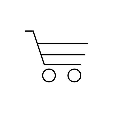 shopping cart icon element of e-commerce icon for mobile concept and web apps. Thin line shopping cart icon can be used for web and mobile. Premium icon on white background. Illusztráció