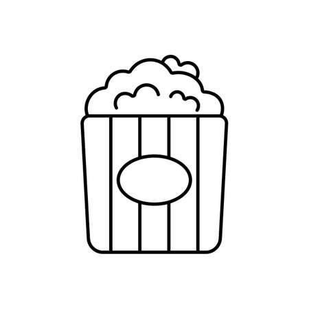 popcorn icon element of movie icon for mobile concept and web apps. Thin line popcorn icon can be used for web and mobile. Premium icon on white background.