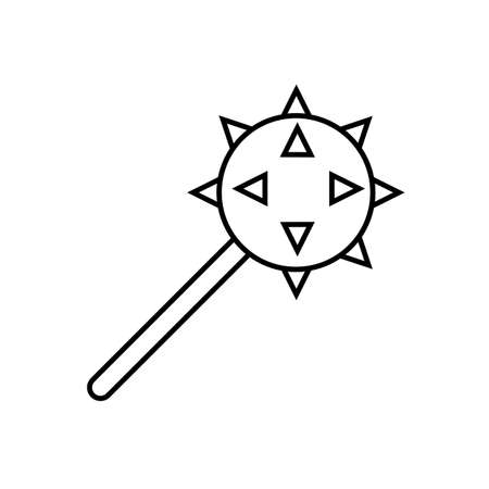 cudgel icon element of weapon icon for mobile concept and web apps. Thin line cudgel icon can be used for web and mobile. Premium icon on white background.