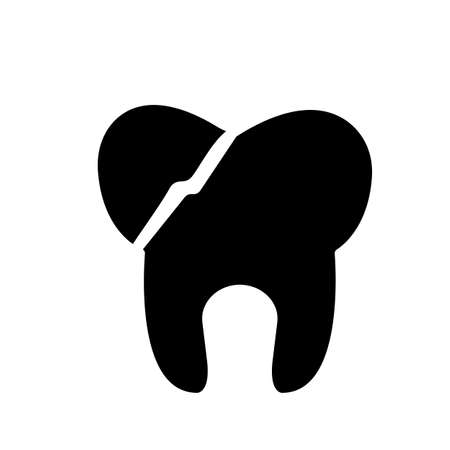 broken tooth icon element of dentistry icon for mobile concept and web apps. Thin line broken tooth icon can be used for web and mobile. Premium icon on white background.