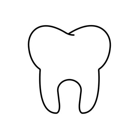 tooth icon element of dentistry icon for mobile concept and web apps. Thin line tooth icon can be used for web and mobile. Premium icon on white background.