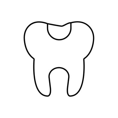dental fillings icon element of dentistry icon for mobile concept and web apps.  Premium icon on white background.