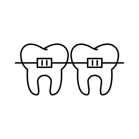 braces icon element of dentistry icon for mobile concept and web apps. Premium icon on white background.