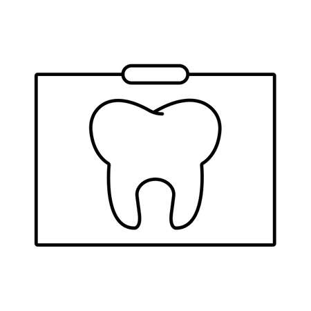 dental x-ray icon element of dentistry icon for mobile concept and web apps. Thin line dental x-ray icon can be used for web and mobile. Premium icon on white background.
