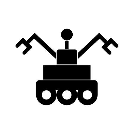 Mars rover icon element of space icon for mobile concept and web apps. Thin line mars rover icon can be used for web and mobile. Premium icon on white background.