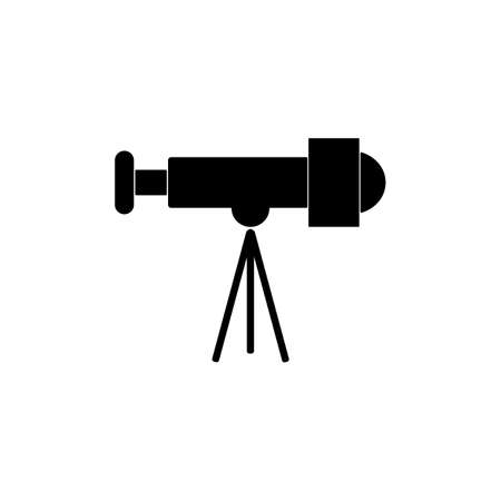 telescope icon element of space icon for mobile concept and web apps. Thin line telescope icon can be used for web and mobile. Premium icon on white background.