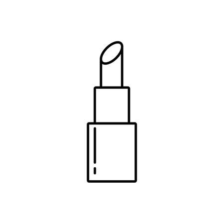 lip stick icon element of make up icon for mobile concept and web apps. Thin line lip stick icon can be used for web and mobile. Premium icon on white background. Stock Illustratie
