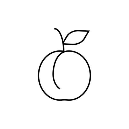peach icon element of fruit icon for mobile concept and web apps. Thin line peach icon can be used for web and mobile. Premium icon on white background.