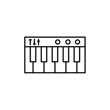 synthesizer icon element of music icon for mobile concept and web apps. Thin line synthesizer icon can be used for web and mobile. Premium icon on white background. 向量圖像