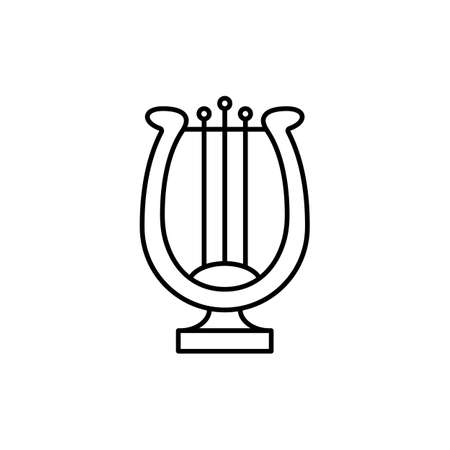 harp icon element of music icon for mobile concept and web apps. Thin line harp icon can be used for web and mobile. Premium icon on white background.