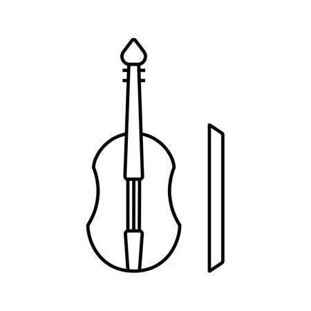 cello icon element of music icon for mobile concept and web apps. Thin line cello icon can be used for web and mobile. Premium icon on white background. 向量圖像