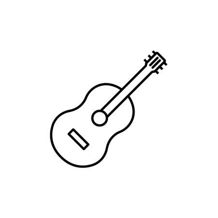 guitar icon element of music icon for mobile concept and web apps. Thin line icon guitar can be used for web and mobile. Premium icon on white background.