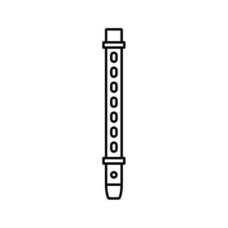 flute icon element of music icon for mobile concept and web apps. Thin line flute icon can be used for web and mobile. Premium icon on white background.
