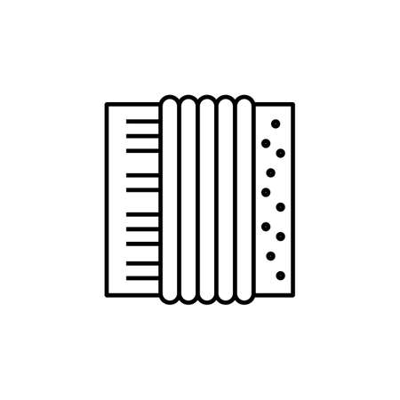 accordion icon element of music icon for mobile concept and web apps. Thin line accordion icon can be used for web and mobile. Premium icon on white background.