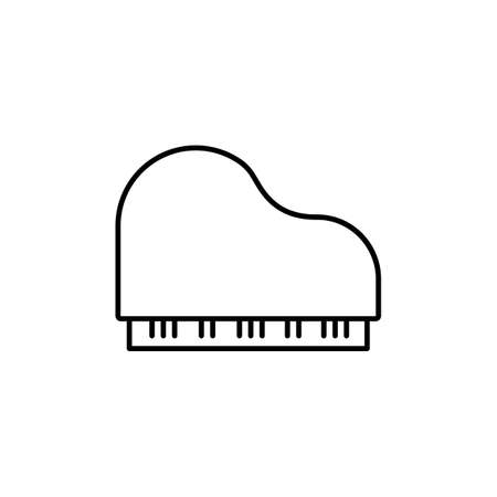 piano icon element of music icon for mobile concept and web apps. Thin line piano icon can be used for web and mobile. Premium icon on white background.