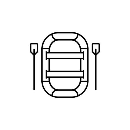 inflatable boat icon element of camping icon for mobile concept and web apps. Thin line inflatable boat icon can be used for web and mobile. Premium icon on white background. 向量圖像