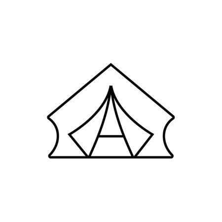 tent icon element of camping icon for mobile concept and web apps. Thin line tent icon can be used for web and mobile. Premium icon on white background.