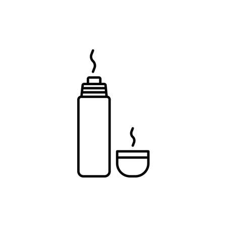 flask icon element of camping icon for mobile concept and web apps. Thin line  icon can be used for web and mobile. Premium icon on white background.