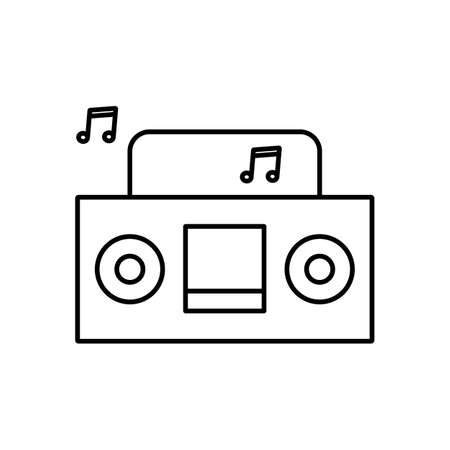boombox icon element of camping icon for mobile concept and web apps. Thin line boombox icon can be used for web and mobile. Premium icon on white background.