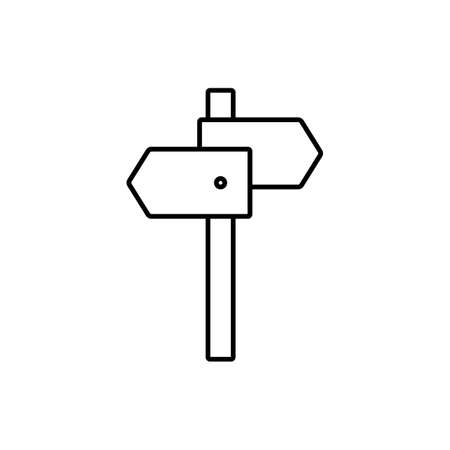 signpost icon element of camping icon for mobile concept and web apps. Thin line signpost icon can be used for web and mobile. Premium icon on white background.