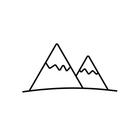 mountain icon element of camping icon for mobile concept and web apps. Thin line mountain icon can be used for web and mobile. Premium icon on white background. 向量圖像