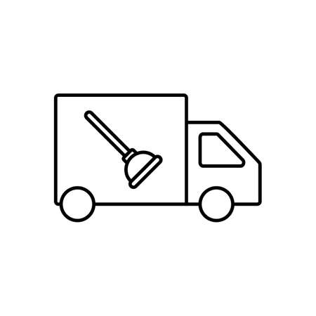 plumbing services icon element of plumbing icon for mobile concept and web apps. Thin line plumbing services icon can be used for web and mobile. Premium icon on white background. 向量圖像