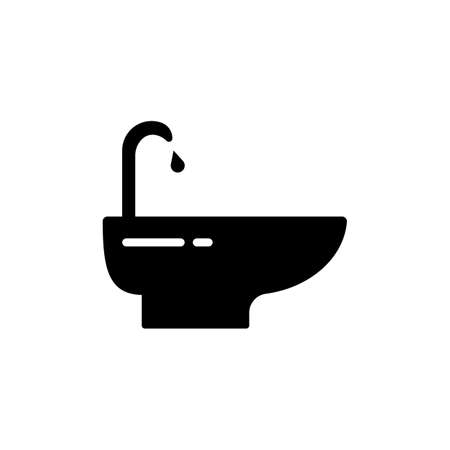bidet icon element of plumbing icon for mobile concept and web apps. Thin line bidet icon can be used for web and mobile. Premium icon on white background. 向量圖像