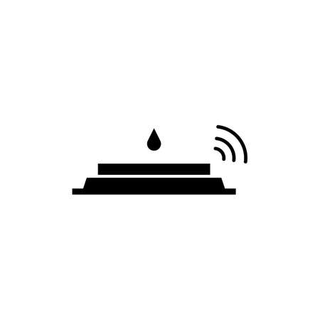 water sensor icon element of plumbing icon for mobile concept and web apps. Thin line water sensor icon can be used for web and mobile. Premium icon on white background.