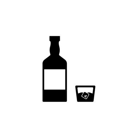 whiskey icon element of bar icon for mobile concept and web apps. Thin line whiskey icon can be used for web and mobile. Premium icon on white background. 向量圖像
