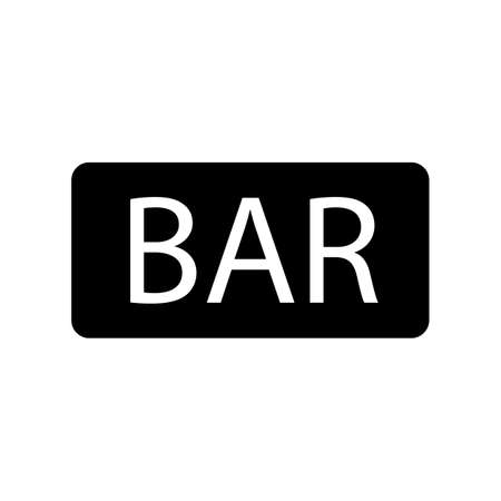 signboard bar icon element of bar icon for mobile concept and web apps. Thin line signboard bar icon can be used for web and mobile. Premium icon on white background.