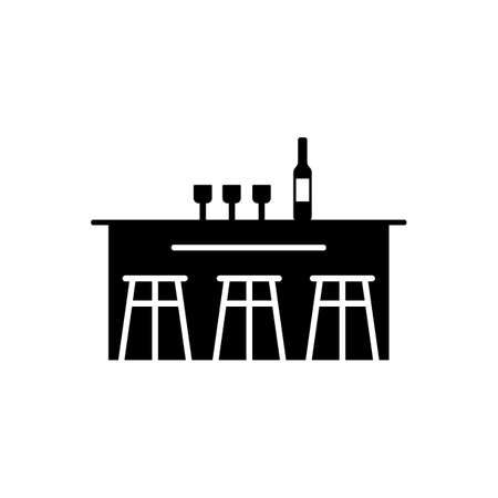 bar counter icon element of bar icon for mobile concept and web apps. Thin line bar counter icon can be used for web and mobile. Premium icon on white background.